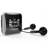 飞利浦(PHILIPS)SA2208 飞声音效8G 发烧无损迷你运动跑步MP3播放器 FM收音录音 黑色