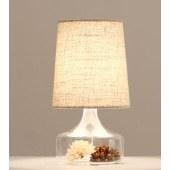 首度 (sdhouseware) 北欧台灯美式田园床头灯 透明干花+亚麻5WLED黄光 TD1601