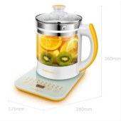 荣事达(Royalstar)养生壶煮茶壶玻璃电水壶烧水壶多功能YSH18Q 1.8L