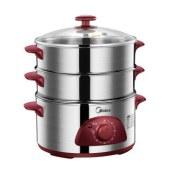 美的(Midea)多用途锅多功能电蒸锅WSYH26A 不锈钢 智能定时 三层 大容量
