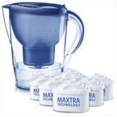 碧然德(BRITA)过滤净水器 家用滤水壶 净水壶 Marella 金典系列 3.5L(蓝色)一壶六芯装
